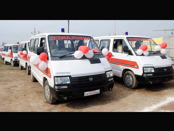 Ambulances flagged off by UP Govt for Kumbha Mela