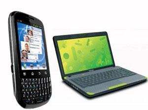 Mobile, laptop