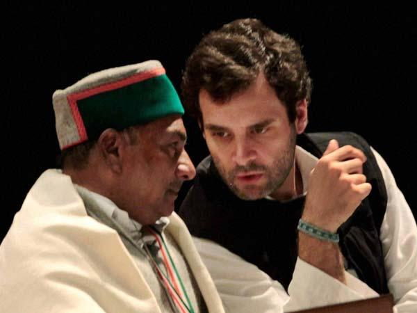 A K Antony and Congress General Secretary Rahul Gandhi
