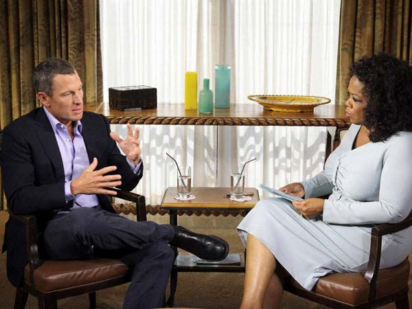 Lance Armstrong and Opra Winfrey