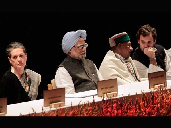 Manmohan Singh Sonia Gandhi AK Antony and Rahul Gandhi