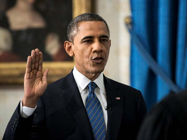 Barack Obama is officially sworn-in as US Prez for second term
