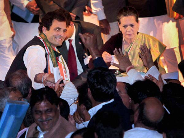 Rahul's elevation, celebration time for Congress
