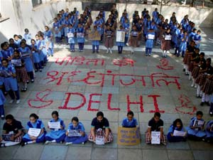 Protest against Delhi rape