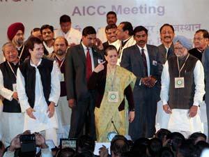 Rahul gandhi, Sonia Gandhi and Manmohan Singh