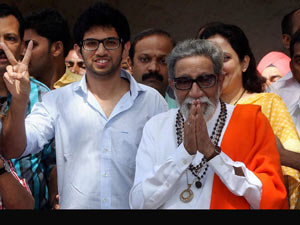 Aditya with Bal Thackeray