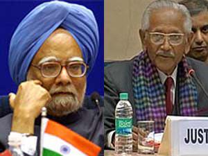 Manmohan Singh with Justice Verma