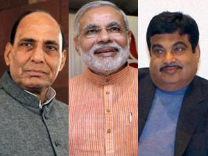 Rajnath Singh, Modi, Gadkari