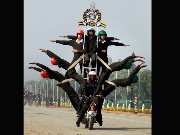 BSF daredevils rehearse for the Republic Day parade