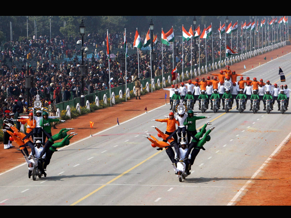 BSF daredevils for the Republic Day parade