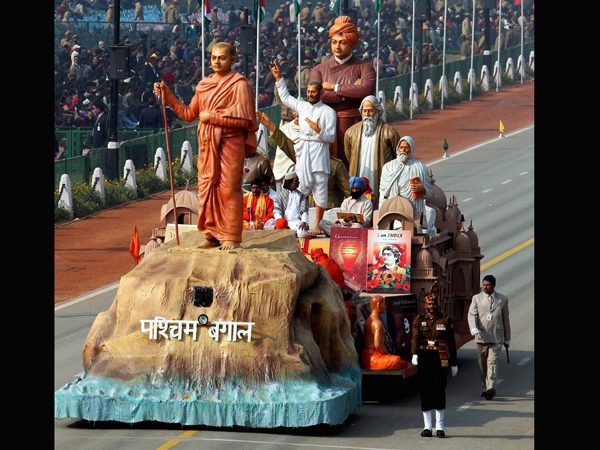West Bengal tableau on displayfor the Republic Day Parade 2013