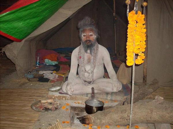 Naga Sadhu With Trishul