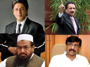 Shahrukh, Rehman Malik, Hafiz Saeed, Sanjay Raut