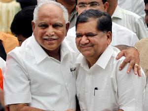 B S Yeddyurappa and Jagadish Shettar