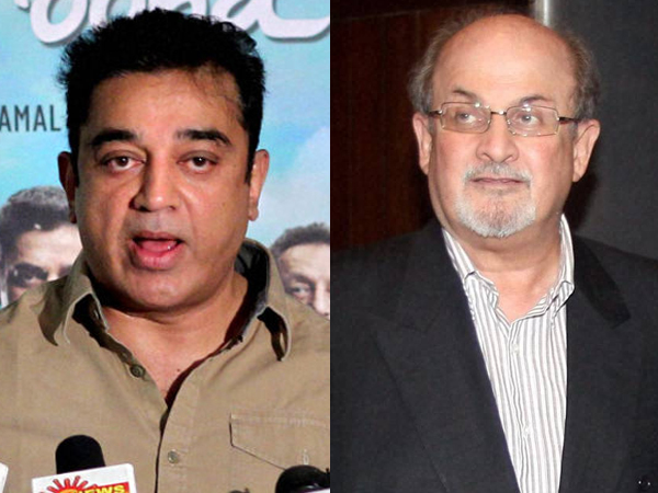 Kamal Haasan and Salman Rushdie