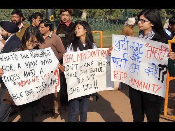Protest against gangrape