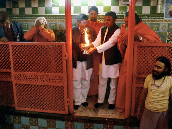 UP Chief Minister Akhilesh Yadav at Maha Kumbh festival