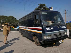 Delhi police van