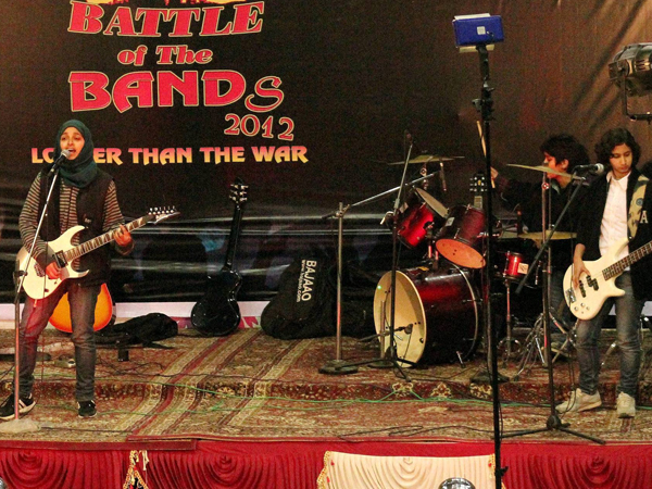 Kashmiri girl rock band