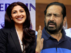 Shilpa Shetty and Kalmadi