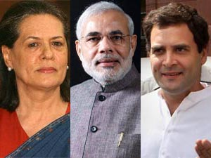 Sonia, Modi and Rahul