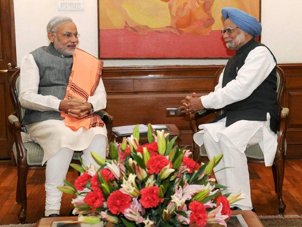 Narendra Modi met Prime Minister Manmohan Singh