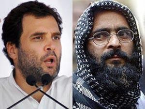 Rahul Gandhi and Afzal Guru