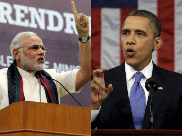 Narendar Modi Barack Obama