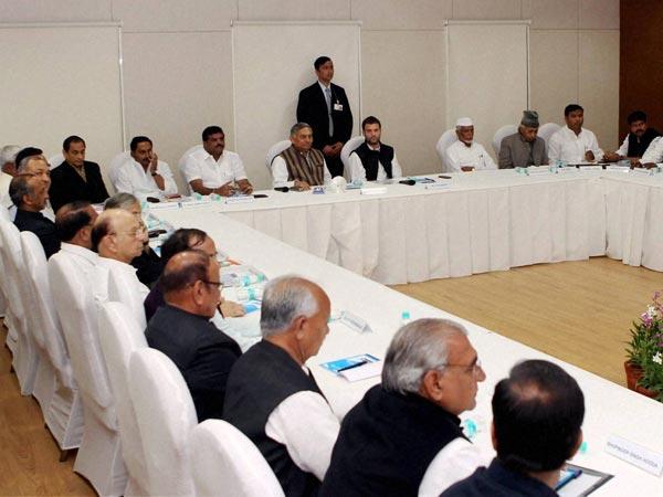 Rahul Gandhi during a Meeting