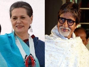 Sonia Gandhi Amitabh Bachchan