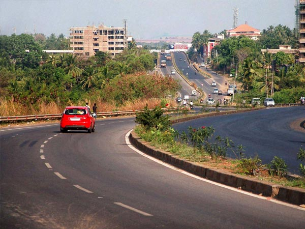 A view of an empty National Highway-66