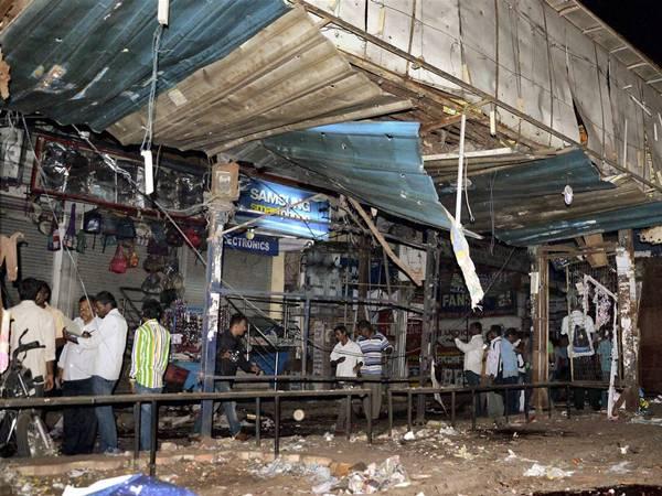 Blast location in Hyderabad