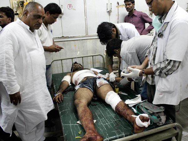 Injured being treated in hospital