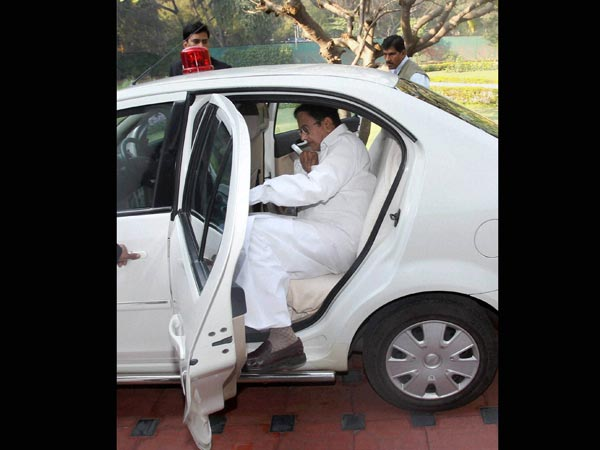 Budget: Chidambaram on his way to Parliament