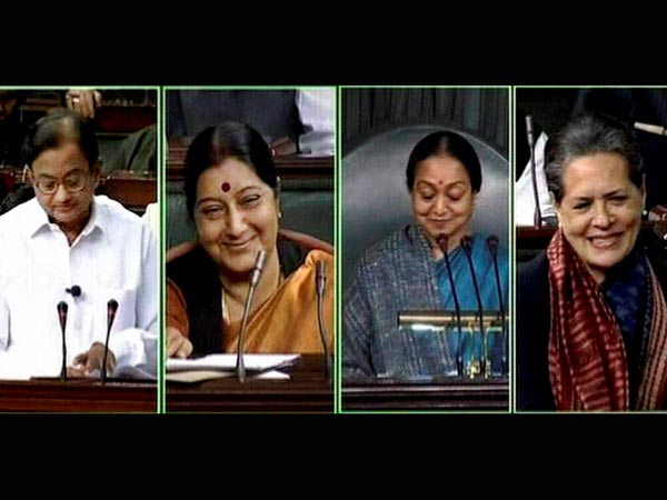 Sonia, Meira Kumar, Swaraj's reaction on Budget 2013