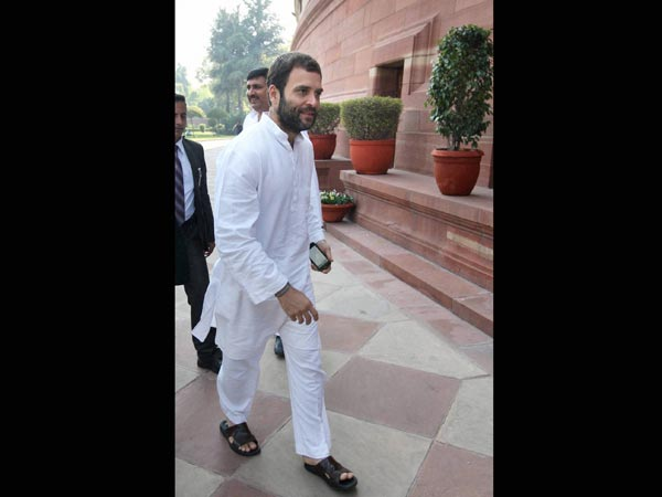 Rahul Gandhi during Budget session