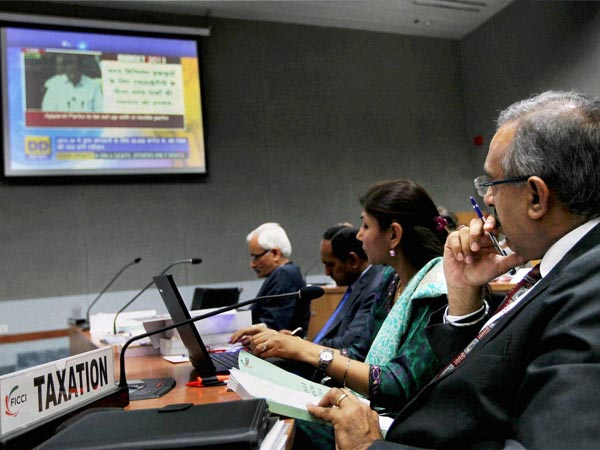 FICCI members watching Budget 2013-14