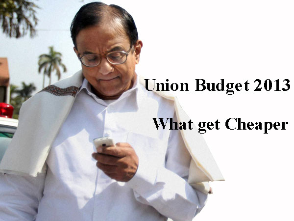 Union Budget 2013: What gets Cheaper