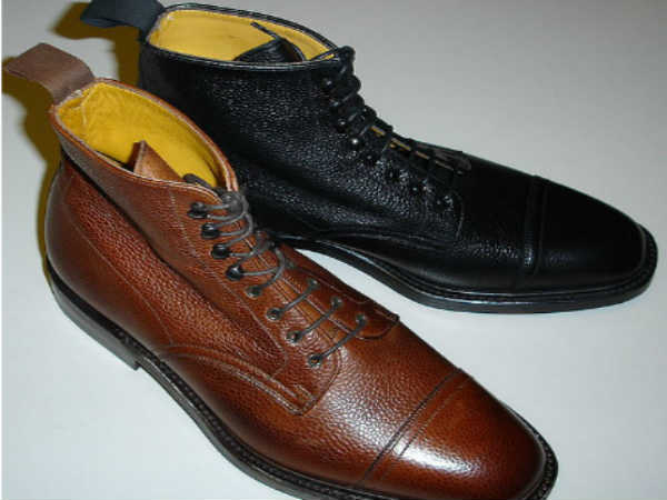 Foreign made leather shoes