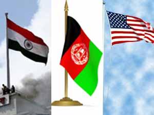 India Afghanistan US flag