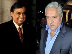 Mukesh Ambani and Vijay Mallya