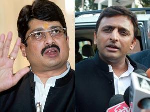 Raja Bhaiya and Akhilesh Yadav