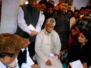 Haq's family members with Akhilesh