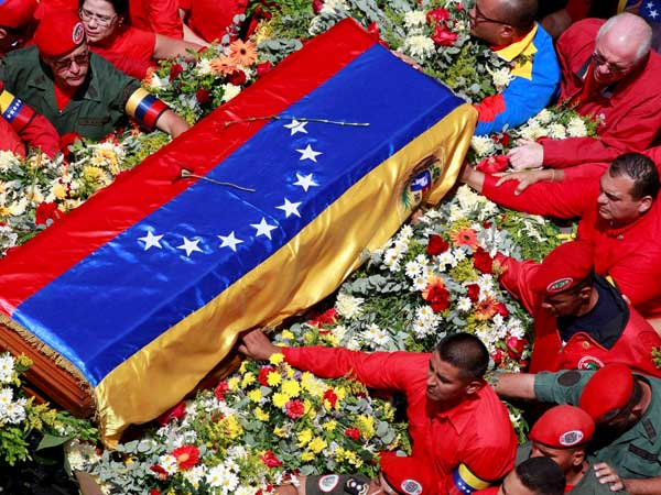 Coffin of Hugo Chavez