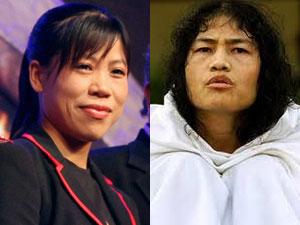 Mary Kom Irom Sharmila