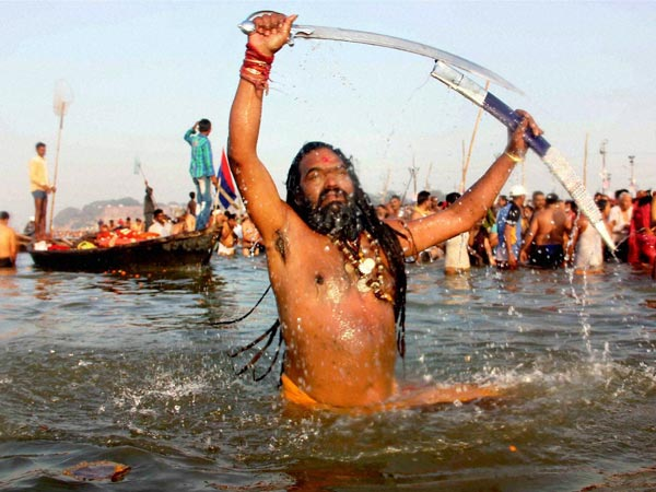 Holy dip in Ganga