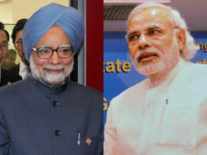 Manmojhan Singh and Narendra Modi