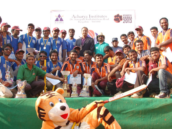Winners Runners up at Acharya Media Cup 2013
