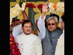 nitish kumar and sharad yadav