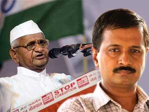 Anna Hazare and Arvind Kejriwal